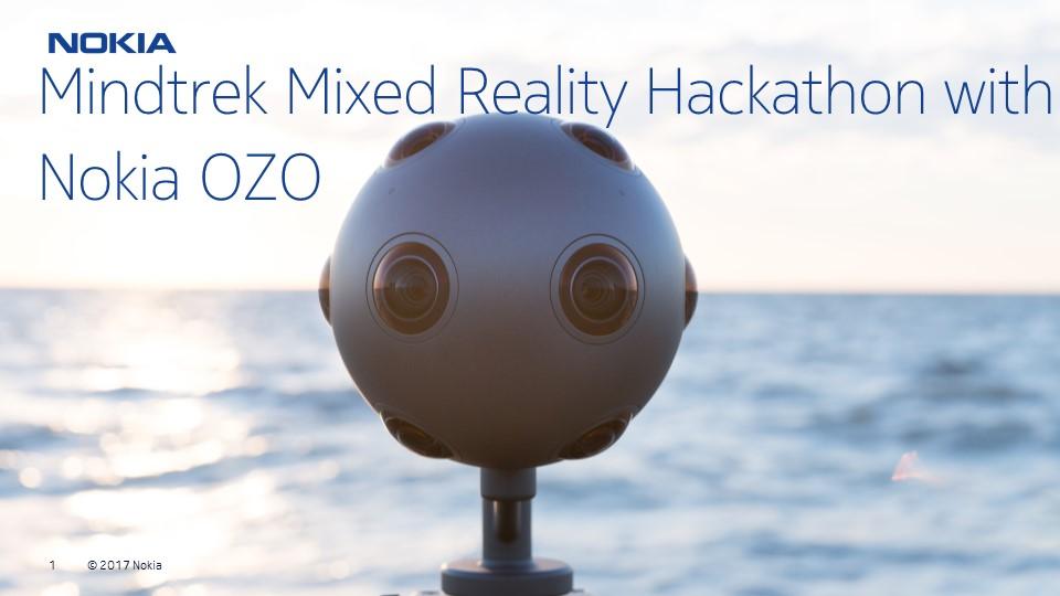 Mindtrek Hackathon 2017 With Nokia OZO