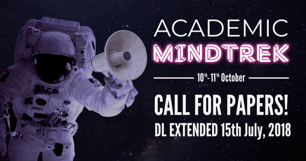 Academic Mindtrek: Deadline extended 15th July, 2018