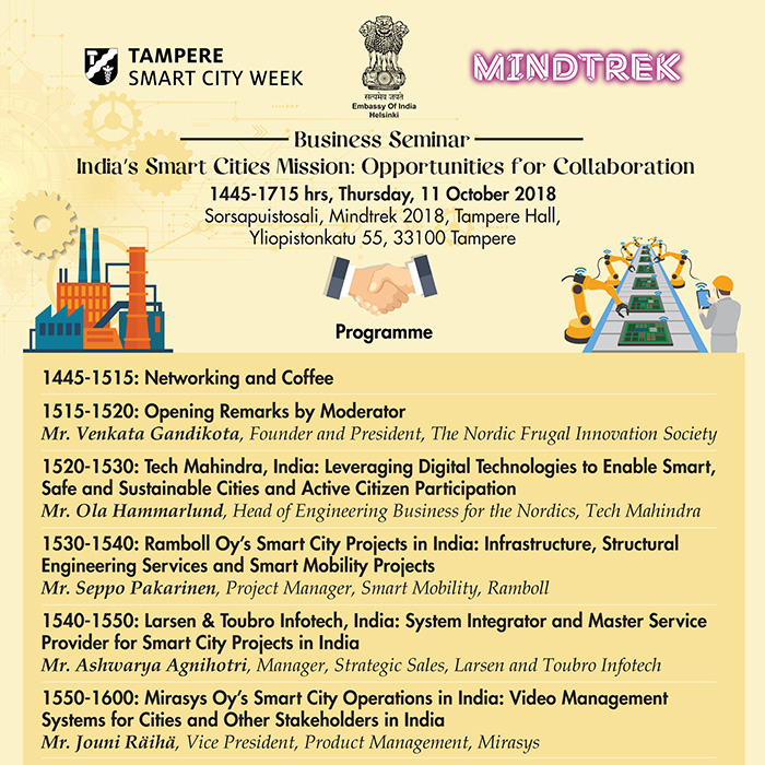 India S Smart Cities Mission Mindtrek 2018