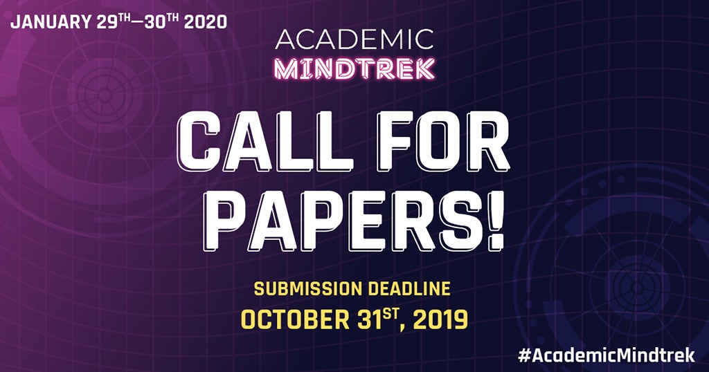 Call for papers deadline 31st of October 2019